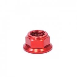 Écrou axe de roue ø15mm - Rouge