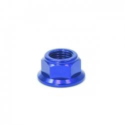 Écrou axe de roue ø15mm - Bleu