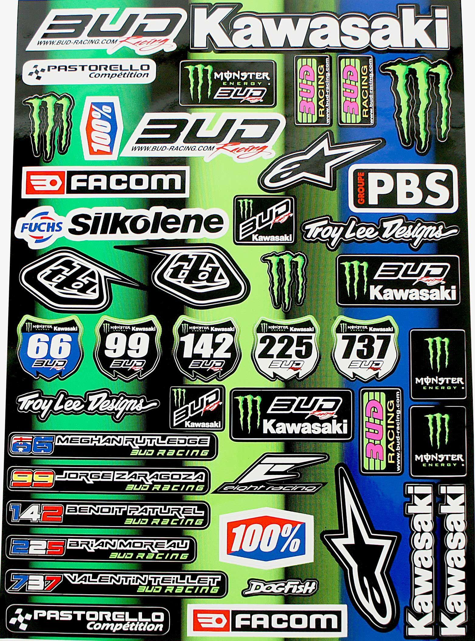 Planche Autocollant - BUD Racing BUD Racing dirtbike pitbike