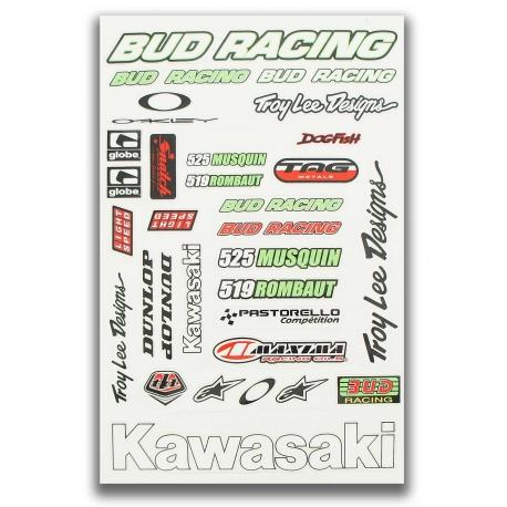 Planche autocolant - BUD Racing