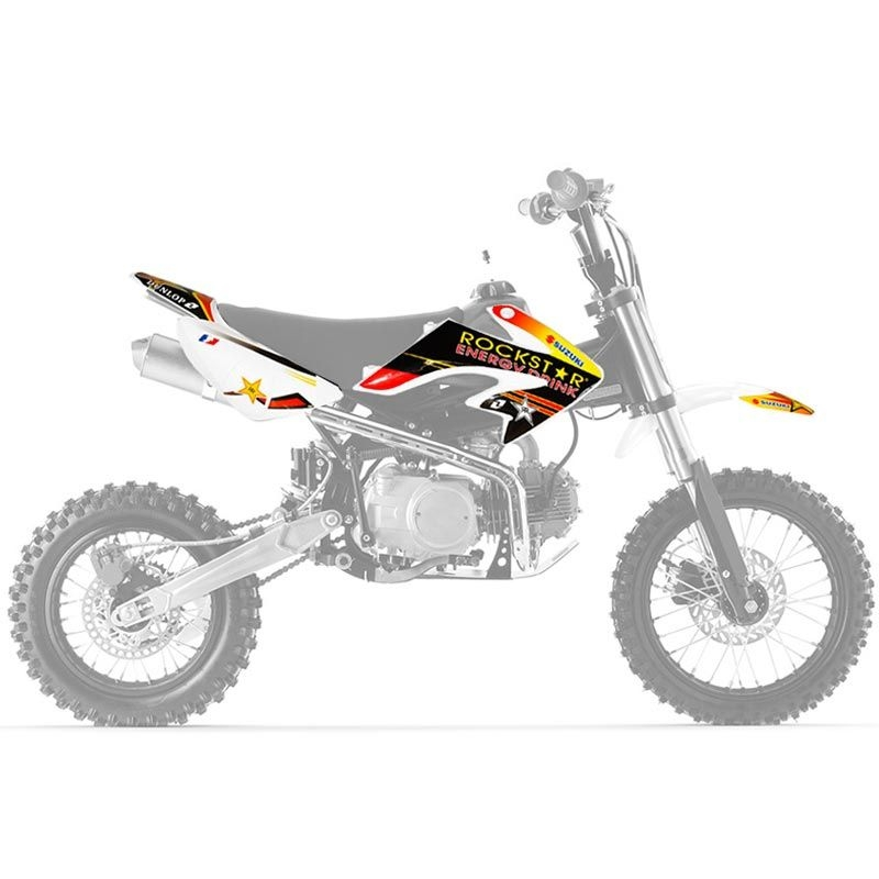 kit deco dirt bike crf50 rockstar dirtbike pitbike. Black Bedroom Furniture Sets. Home Design Ideas