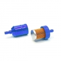 Filtre à essence aluminium - Bleu