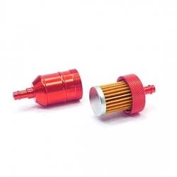 Filtre à essence aluminium - Rouge