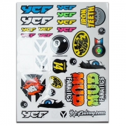 Planche autocollant - YCF