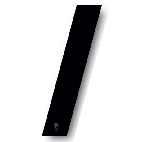 N°1 Numero de plaque YCF Noir - 123x80mm (vendu par 3)