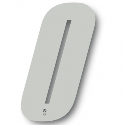 N°0 Numero de plaque YCF Blanc - 123x80mm (vendu par 3)