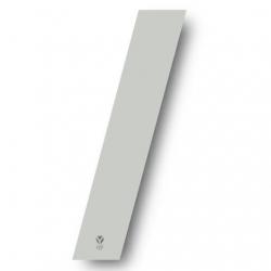 N°1 Numero de plaque YCF Blanc - 123x80mm (vendu par 3)