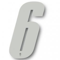 N°6 Numero de plaque YCF Blanc - 123x80mm (vendu par 3)