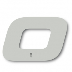N°0 Numero de plaque YCF Blanc - 117x172mm (vendu par 3)