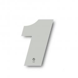 N°1 Numero de plaque YCF Blanc - 117x172mm (vendu par 3)