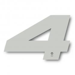 N°4 Numero de plaque YCF Blanc - 117x172mm (vendu par 3)