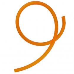 Durite d'essence translucide 30cm - Orange