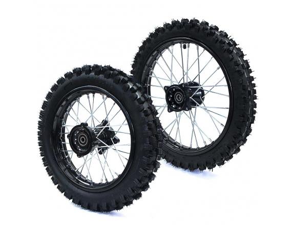 """Paire de roue 14"""" arrière / 17"""" avant Racing"""