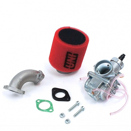 Pack carburateur MOLK 26 - filtre à air UNI rouge