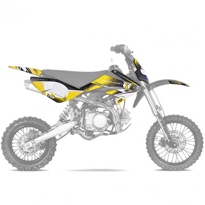 Kit deco CRF70 RS Yellow - Dirt bike / Pit bike / Mini Motorrad ...