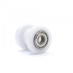 Roulette de chaine teflon guidée - ø10mm
