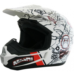 Casque cross victoria bull off road blanc taille L