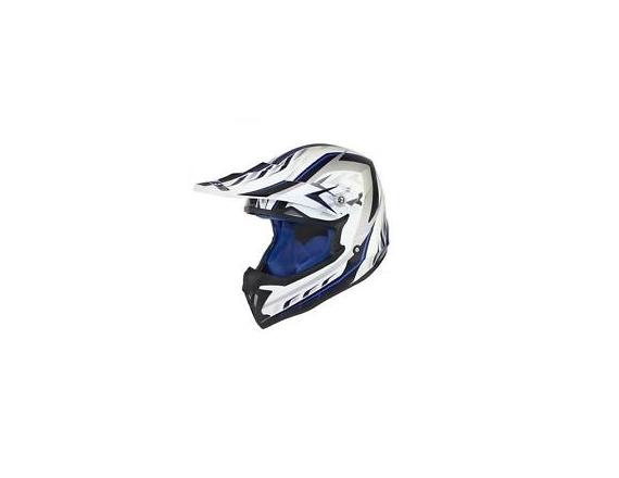 Casque cross noend defcon blanc bleu taille L