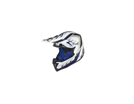 Casque cross noend defcon blanc bleu taille XL