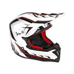 Casque cross noend defcon blanc rouge taille L