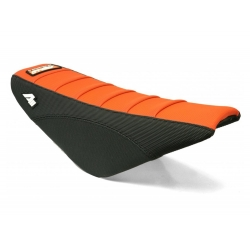Housse de selle APOLLO MOTORS - CRF70 - Noir/Orange