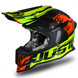 Casque cross JUST1 J32 Dominator Rouge/Lume Fluo