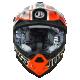 Casque cross JUST1 J32 Pro Rave Noir / Orange