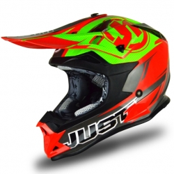 Casque cross JUST1 J32 Pro Rave Rouge / Lime