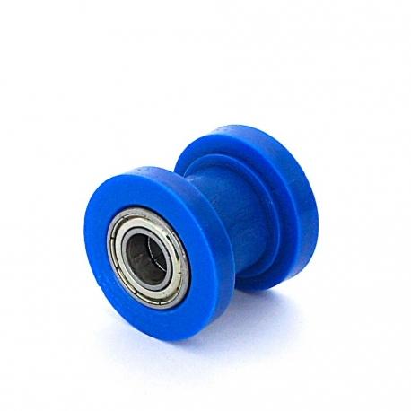Roulette de chaine teflon guidée - ø8mm Bleu