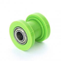 Roulette de chaine teflon guidée - ø10mm Vert