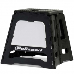 Repose moto pliable Polisport - Noir / Blanc