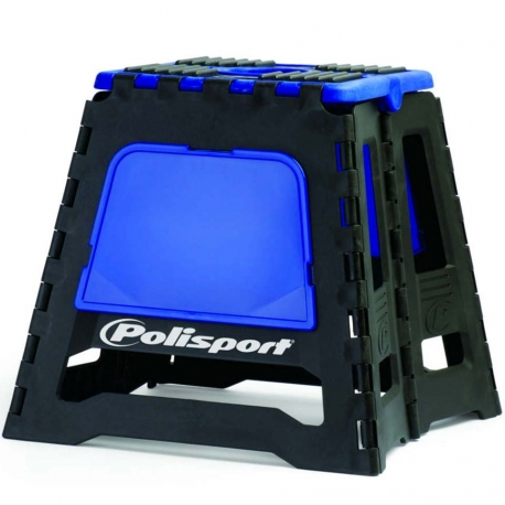 Repose moto pliable Polisport - Noir / Bleu