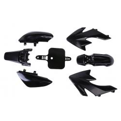 Kit plastique CRF50 - Noir- Petite Plaque