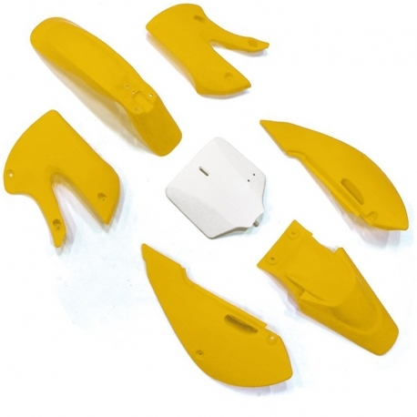 Kit plastique KLX - Jaune