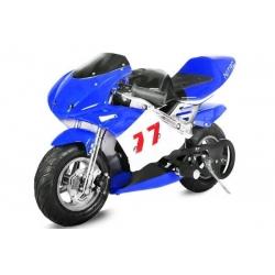 Pocket bike course Bleu - 49cc