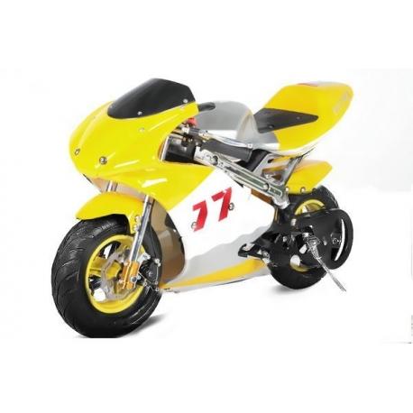 Pocket bike course Jaune - 49cc