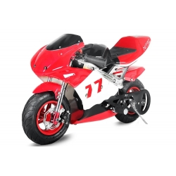 Pocket bike course Rouge - 49cc