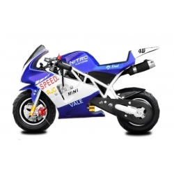 Pocket bike course Racing Bleu - 49cc