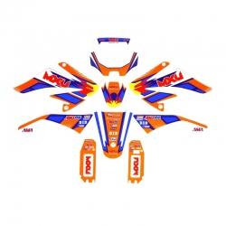 Kit décoration CRF70 MXU orange Team