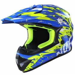 Casque Cross NOEND CRACKED - BLEU