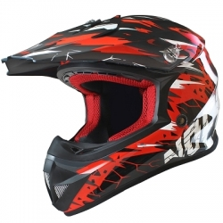 Casque Cross NOEND CRACKED - Rouge