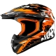 Casque Cross NOEND CRACKED - Orange