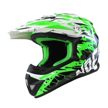 Casque Cross NOEND CRACKED - Vert