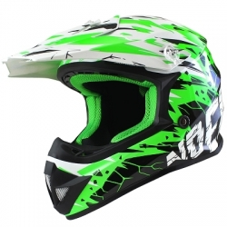 Casque Cross enfant NOEND CRACKED - Vert